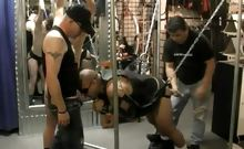 Kinky bear foursome in BDSM orgy