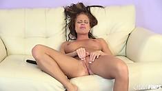 Nikki Delano screams aloud as she finally reaches a joyful orgasm