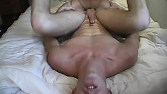 Slender blow boy Jack and his strong buddy Cory share bed together