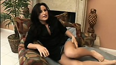 Juicy brunette housewife gets banged hard by a big black cock