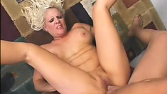 Veronica Vaughn, a busty blonde cougar with a big ass, is in need of a hard cock
