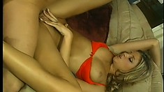 Naughty blonde bitch with bubble butt Monica gets completely fucked