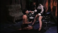 A pair of incredibly hot lesbian amateurs engage in domination action