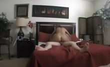 Big tit blonde bends over doggy for a homemade pov penis insertion